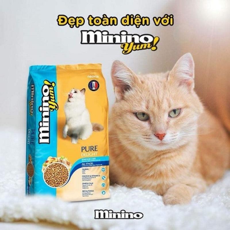 Thức Ăn Hạt Khô Minino Yum Cho Mèo Hương Vị Thơm Ngon Gói 350Gr