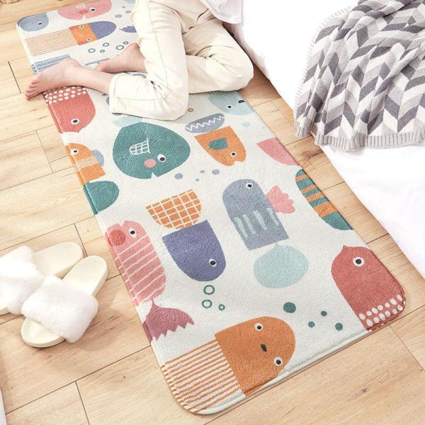 Thảm trang trí lông cừu siêu mềm đặt ở giường ngủ chân ghế sofa. Thảm chụp hình THẢM TRẢI SÀN phòng ngủ, thảm trải sàn phòng khách cao cấp.