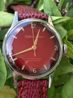 Đồng hồ nam CITIZEN mặt đỏ - Nhật Bản thumbnail