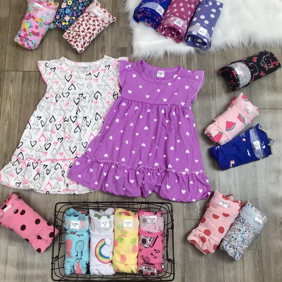 (CHỌN MẪU) Váy Hè Vải Cotton Xuất Xinh Xắn Mát Mẻ Cho Bé Gái Từ 1-7 Tuổi Cùng Giá Khuyến Mãi Hot
