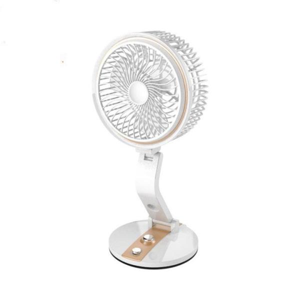 Quạt tích điện, quạt mini để bàn, quạt gấp có đèn led, Quạt mini xoay 360 độ, Kiếu dáng hiện đại, thiết kế thông minh, Dung lượng pin lớn, sử dụng liên tục 4-6h, bảo hành 6 tháng.