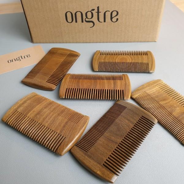 Lược chải tóc gỗ Đàn Hương / Kích thước: 5.9cmx10cm | ongtre® (Vietnam)