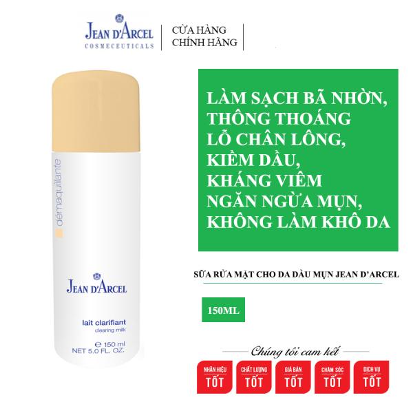 Sữa rửa mặt cho da dầu mụn Jean DArcel Clearing milk 150ml