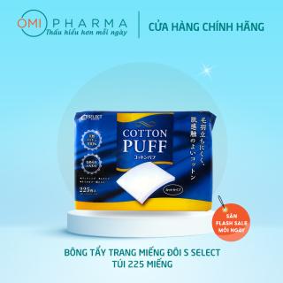 Bông Tẩy Trang S Select 100% Cotton Nhật Bản 225 miếng ( Dạng Square) thumbnail