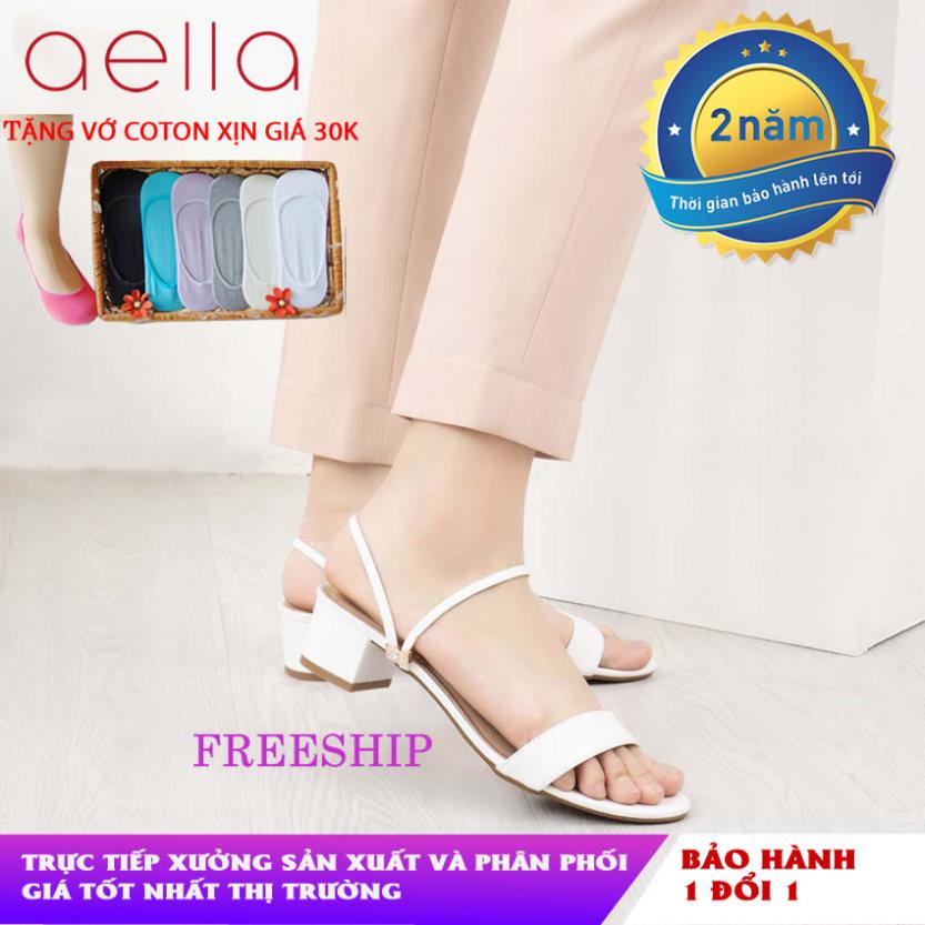 Giày sandal nữ cao gót AELLA AE200 - Êm chân, dáng chuẩn - Giày xăng đan cao gót giá rẻ