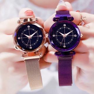 Đồng hồ thời trang nữ Huans 4 cườm dây lưới nam châm MS498 thumbnail