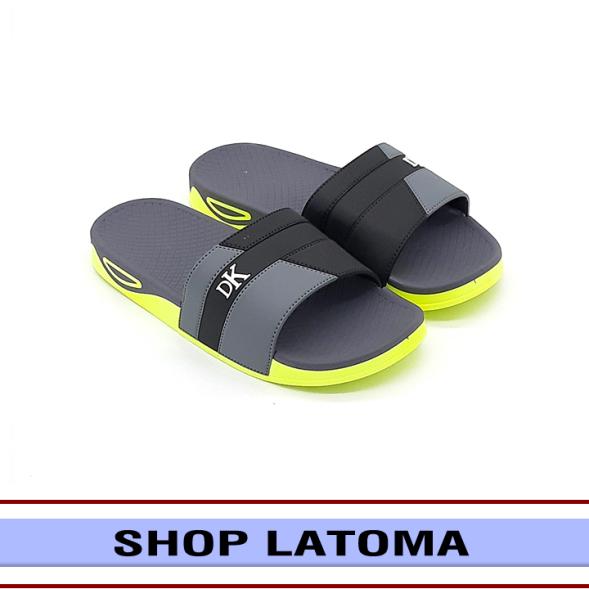 Dép quai ngang, dép nam, dép nữ, dép đi trong nhà hay ngoài trời, quai phối 2 màu kiểu dáng thời trang cao cấp Latoma TA5632 (Xám) giá rẻ