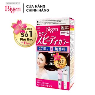 Thuốc nhuộm tóc phủ bạc dạng kem Bigen Speedy Color Cream 80ml - Nâu 4NA thumbnail