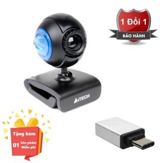 ( Tặng kèm Đầu OTG kết nối cho điện thoại cổng Type C ) Webcam tích hợp Micro cho máy tính, PC, Laptop A4tech 752F - Webcam học online tại nhà A4tech PK-752F - Webcam online kèm Micro 752F thumbnail
