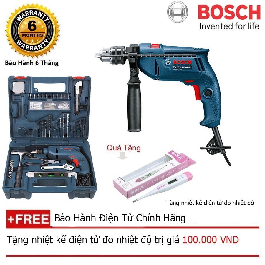 Máy khoan động lực Bosch GSB 10RE - SET 100 + + Quà tặng nhiệt kế điện tử