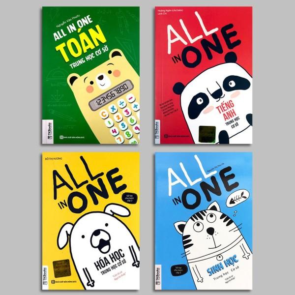 Sách - All In One - Trung Học Cơ Sở - Toán, Anh, Hóa, Sinh