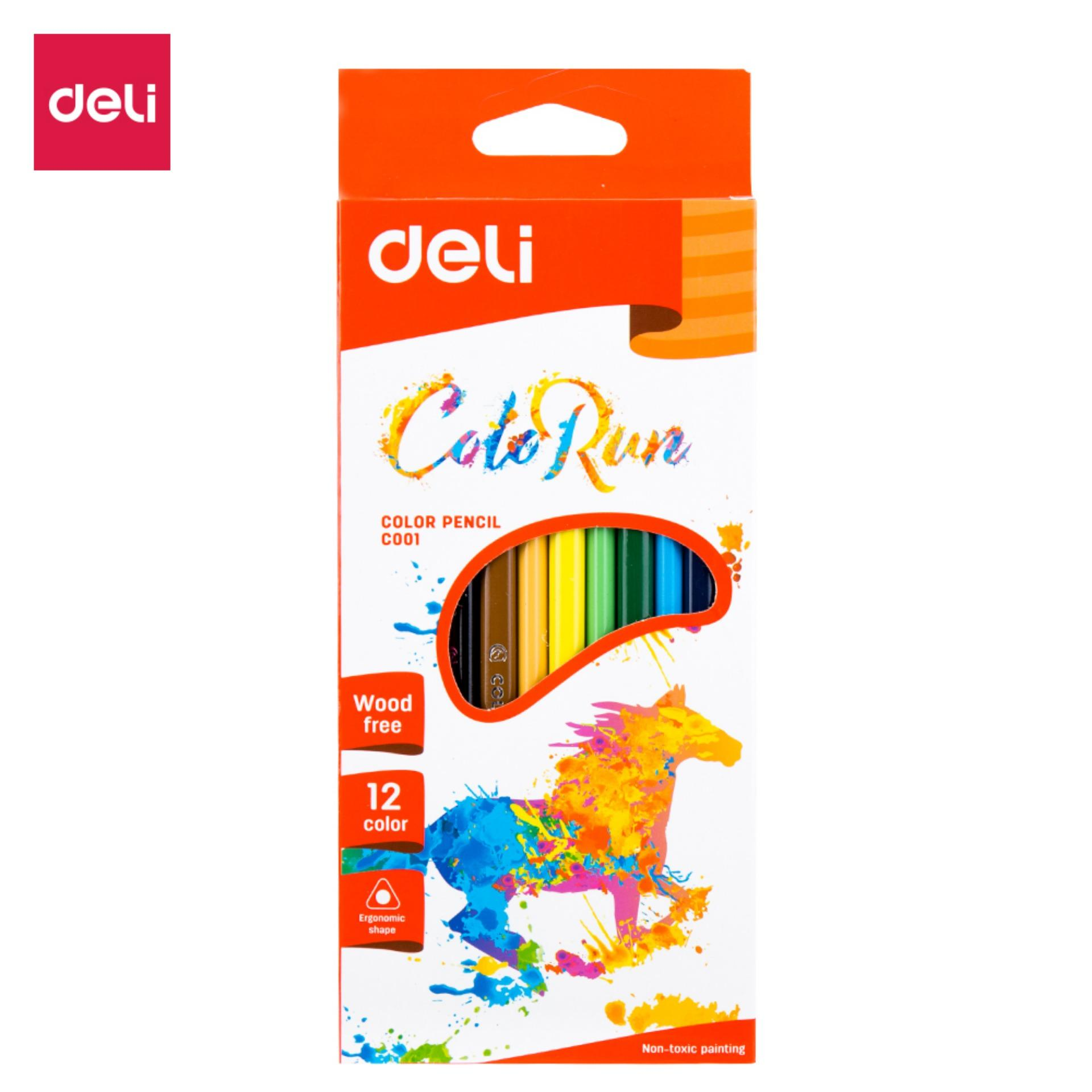 Mua DELI EC00100 Bút chì màu φ8×175mm nhiều màu-12 cái/hộp