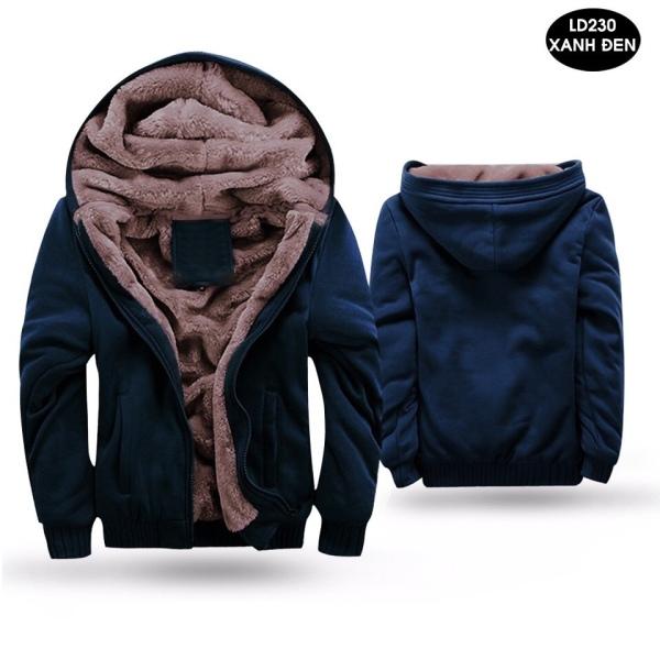 Áo ấm Nam, Áo ấm nỉ lông thời trang nam cao cấp 2020 ( màu lông ngẫu nhiên) - HAZACI VN
