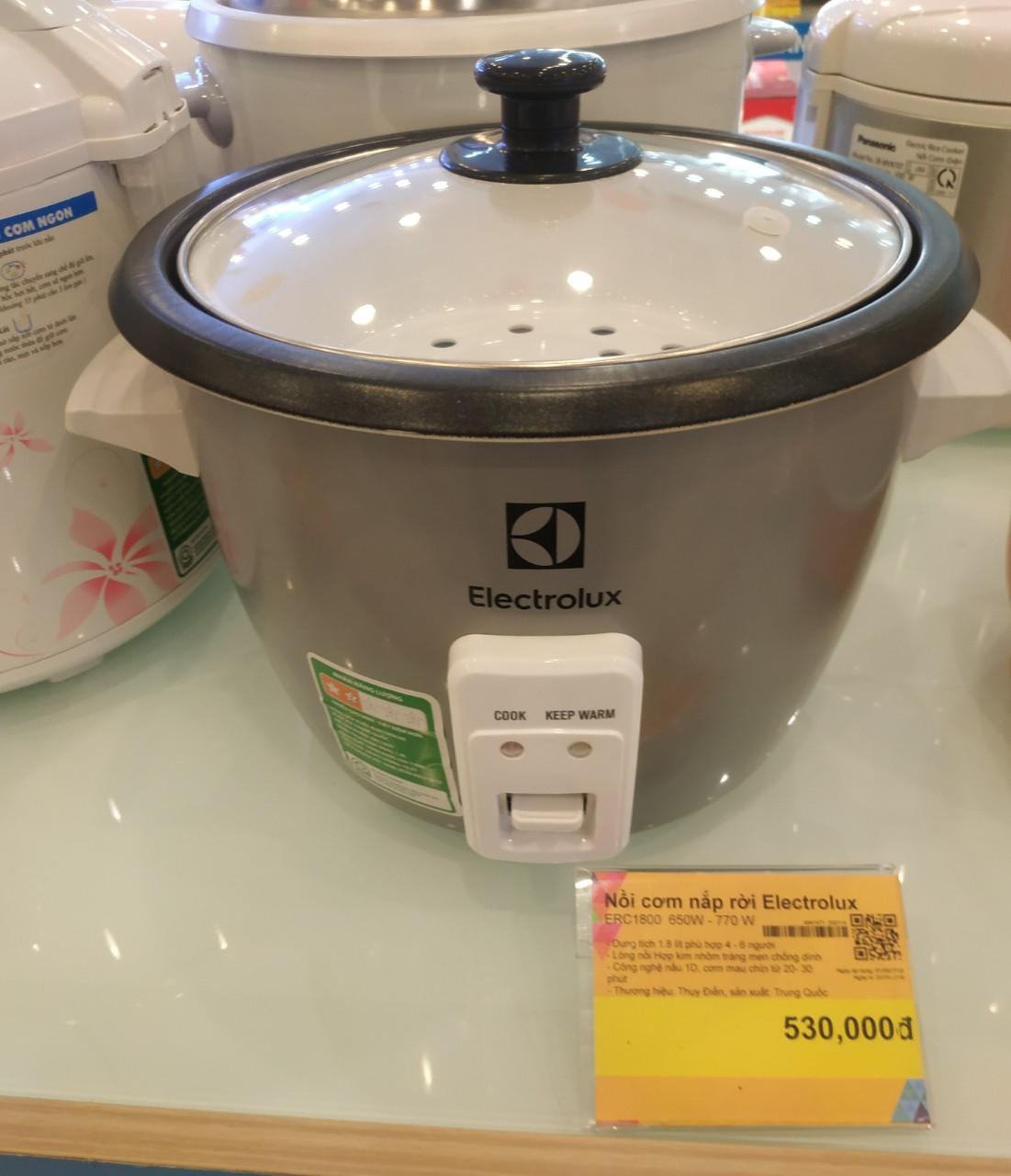 Nồi cơm điện Electrolux 1.8 lít ERC1800 mới