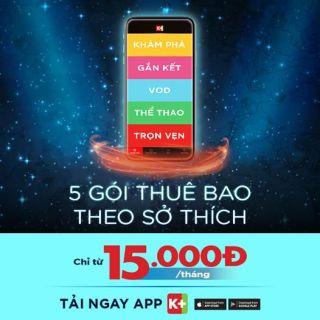 [ỨNG DỤNG K+] GÓI THỂ THAO -50% 60 K THÁNG thumbnail