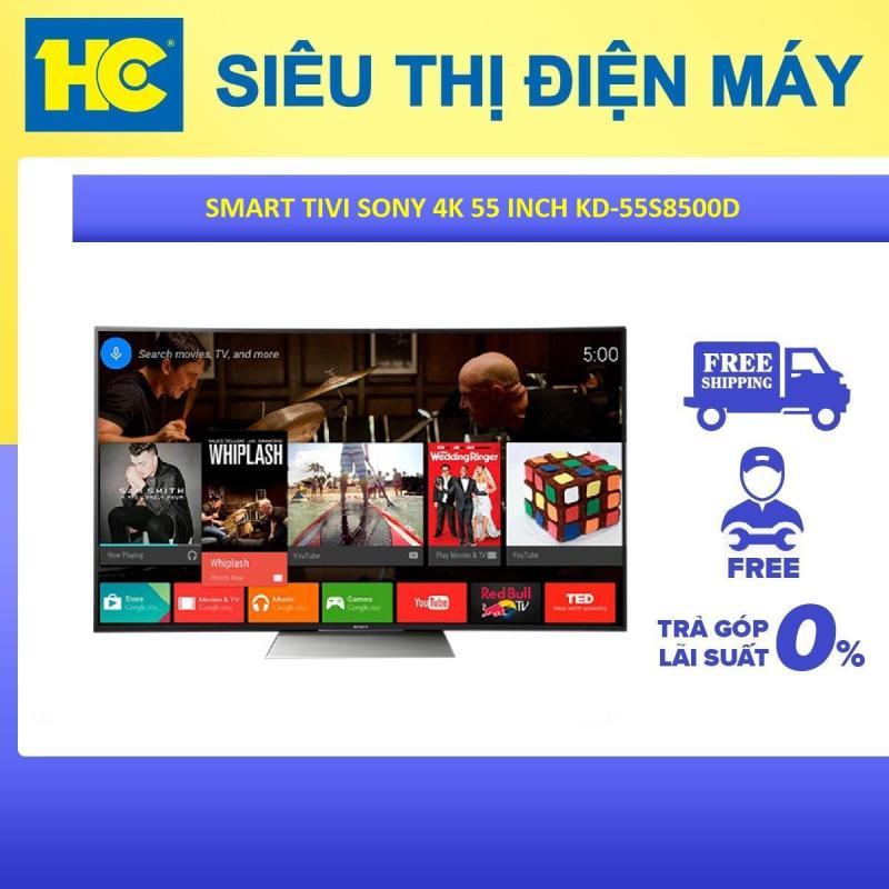 Bảng giá Smart Tivi Sony 55 inch Full HD - Model KD-55S8500D (Đen) - Bảo hành 2 năm - Miễn phí vận chuyển & lắp đặt - hỗ trợ trả góp