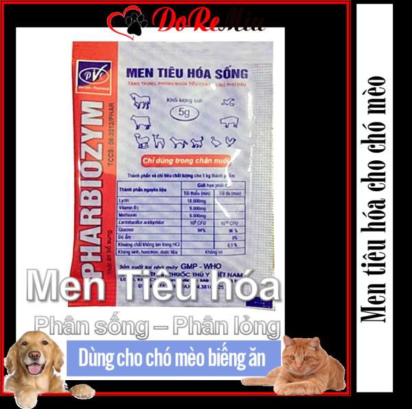 Doremiu - Men tiêu hóa sống cho chó mèo 5gr