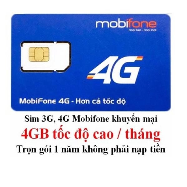 Sim 3G/4G Mobifone Trọn Gói 1 Năm Không Nạp Tiền
