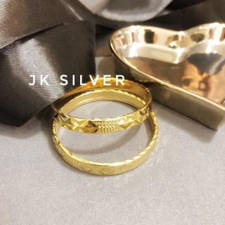 Vòng tay vàng (1 chiếc) khóa lưỡi gà đính đá mạ vàng 18K cao cấp JK Silver, thiết kế tinh xảo cao cấp giá rẻ, trang sức hottrendU.vong341 thumbnail