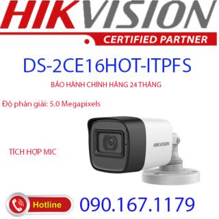 [HCM]Camera HD-TVI hồng ngoại 5.0 Megapixel HIKVISION DS-2CE16H0T-ITPFS thumbnail