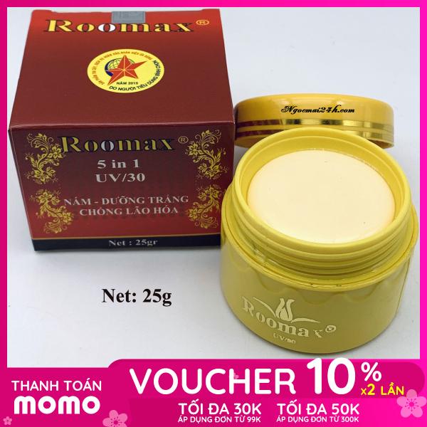 Kem nám dưỡng trắng da mặt chống lão hóa ROOMAX 5 in 1 25g màu đỏ giá rẻ