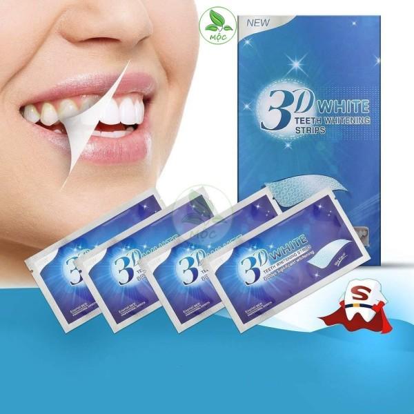 Miếng dán trắng răng tiện lợi 3D White Teeth Whitening Strips- Miếng dán trắng răng hiệu quả giá rẻ