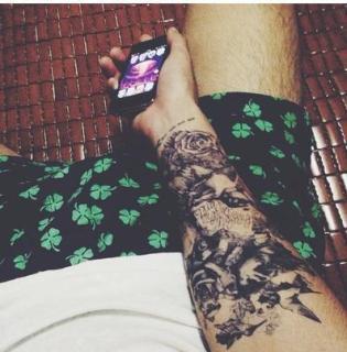 Hình xăm dán nam tatoo tổ chim kích thước 15 x 21 cm - miếng dán hình xăm đẹp dành cho nam thumbnail