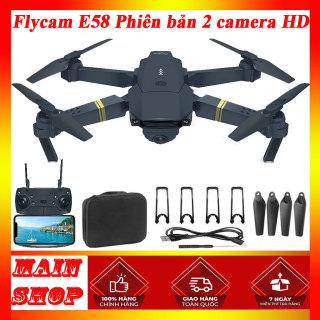máy bay điều khiển từ xa, máy bay điều khiển từ xa E58 4k HD720p, may bay dieu khien tu xa E58, Drone E58 4k HD 720p, máy bay flycam tầm trung, chính hãng, giá rẻ thumbnail