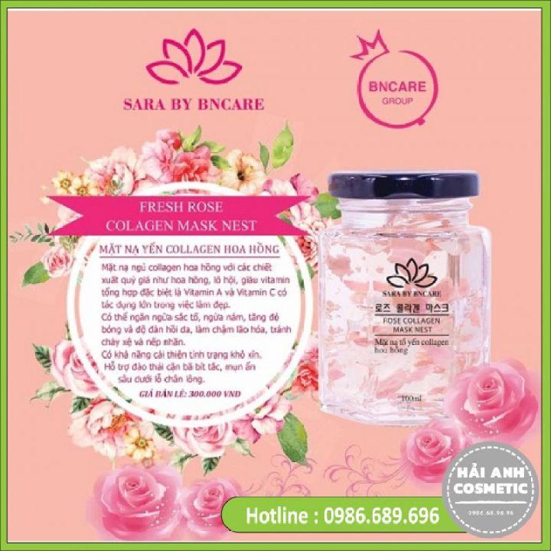 Mặt Nạ Yến Tươi Collagen Hoa Hồng