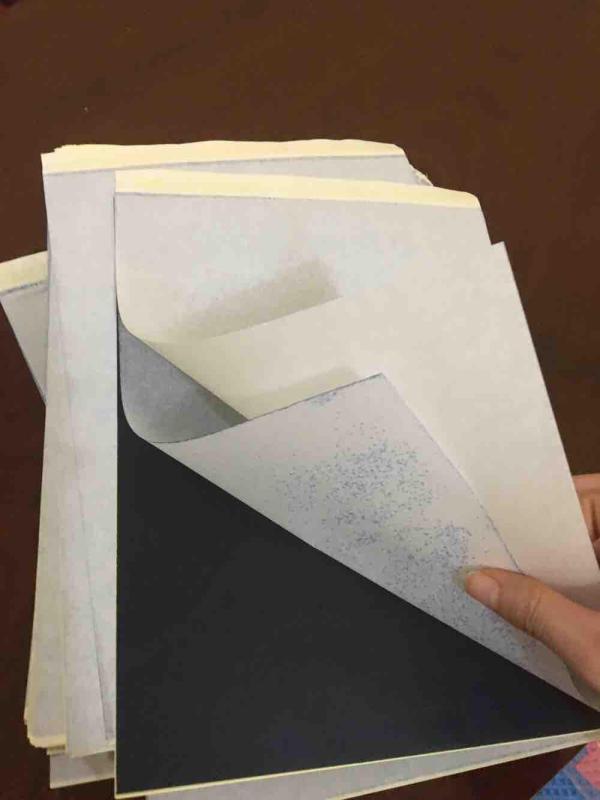 Combo 03 tờ giấy than scan in hình xăm khổ A4