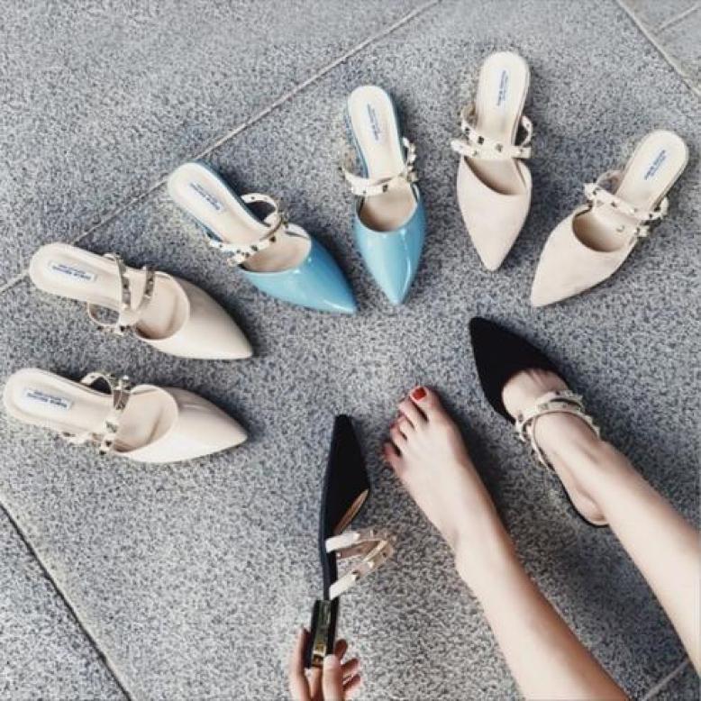 Giày cao gót đế vuông có hình thật giá rẻ