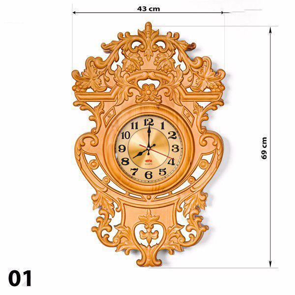 Đồng hồ treo tường Gỗ thông(nâu) - (40*60cm) - trang trí nhà cửa - Phong cách Châu Âu - Bảo Hành 24 Tháng + Tặng 1 Pin Dự Phòng bán chạy
