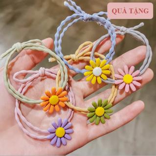 Dây buộc tóc hoa cúc Hàn Quốc nhiều màu sắc hot trend 2021 thumbnail