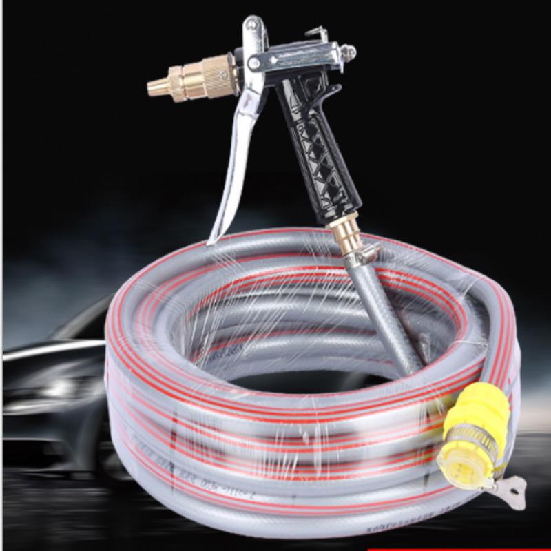 Vòi nước vòi phun nước rửa xe tưới cây tăng áp thông minh + bộ dây bơm nước 5m cao cấp TLG  206400 (dây xám)