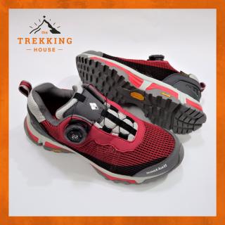 Giày leo núi trekking chống thấm nước Montbell Đỏ Xám, Giày phượt dã ngoại outdoor khóa Boa thumbnail