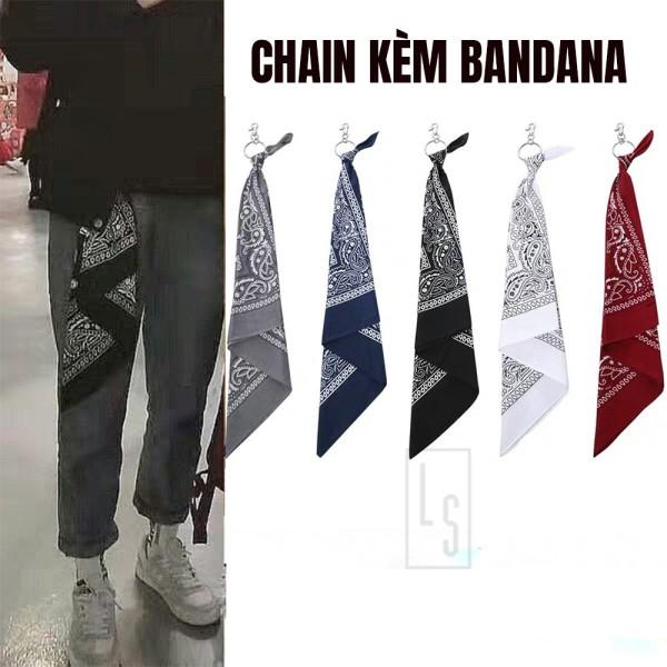 Chain Quần Kèm Khăn Bandana Streetwear - Móc Bandana Hiphop