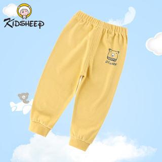 Kidsheep Quần thun bé trai quần dài cho trẻ họa tiết ô tô chất cotton hàng xuất khẩu