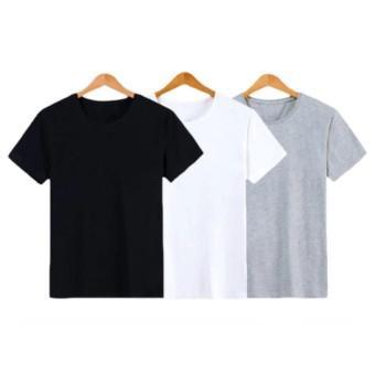 [HCM]Bộ 3 áo thun nữ trơn vải dày mịn Hàn Quốc thương hiệu Elsa