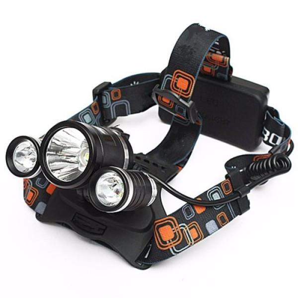 [FREESHIP] Đèn pin siêu sáng, đèn pin đội đầu 3 bóng siêu sáng, đèn led đội đầu 3 bóng + 2 pin sạc 18650 + 1 củ sạc, Den pin sieu sang doi dau 3 bong, BH 12 THÁNG