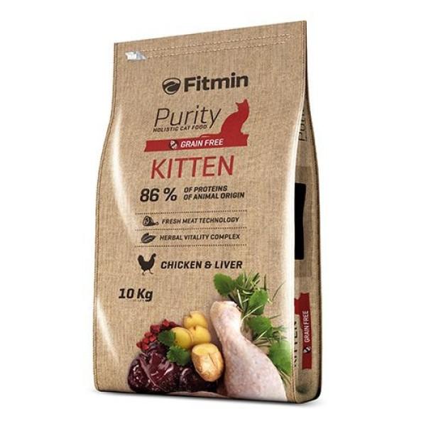 [HCM]Thức ăn cho mèo con FITMIN CAT PURITY KITTEN (Bao 10kg) - DELICIOUS