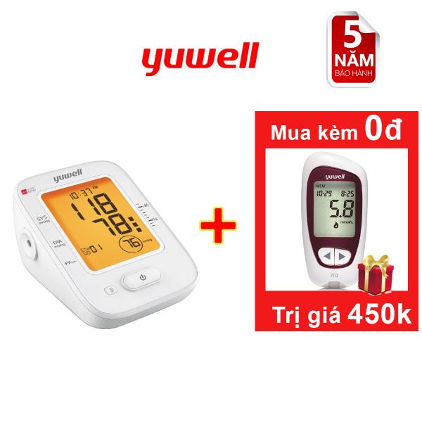 Bộ máy đo huyết áp Yuwell 620B + máy đo đường huyết yuwell Accusure 710 bán chạy