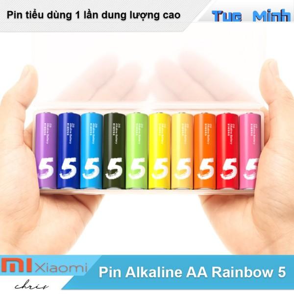 Pin AA Alkaline Xiaomi Rainbow 5 vỉ 10 viên