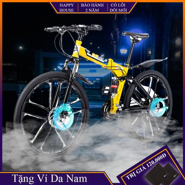 Mua Xe đạp thể thao, xe đạp địa hình gấp gọn, mâm bánh đúng, phanh đĩa cơ học, khung thép siêu bền, bảo hành chính hãng, lỗi đổi mới trong 7 ngày đầu nhận hàng
