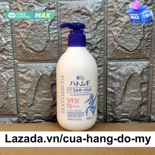 Sữa Dưỡng Thể Chống Nắng Ý Dĩ Hatomugi The UV Milky Gel 250ml SPF31 PA+++ Nhật Bản nhập khẩu