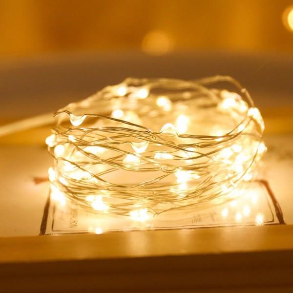 Dây Đèn LED Đom Đóm, Đèn LED Dây Fairylight Trang Trí, dài 2m - 4m Decor Trang Trí Nhà Cửa