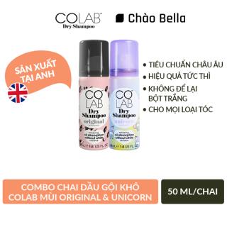 [Colab] Combo 2 Chai Dầu Gội Khô Colab mùi Original + mùi Unicorn 50ml chai - chaobella thumbnail