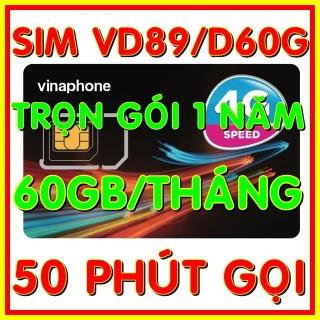 Sim 4G Vinaphone VD89 D60G trọn gói 1 năm có 2GB ngày (60GB tháng) tốc độ cao 4G + 50 phút gọi ngoại mạng + Miễn phí gọi nội mạng Vinaphone gói VD89 D60G - Giống như sim 4G Vinaphone VD89P (VD89 Plus) - Shop Sim Giá Rẻ thumbnail