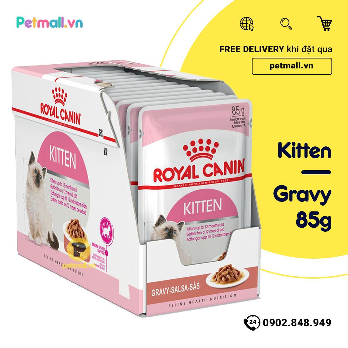 Mã Khuyến Mại tại Lazada cho Pate Mèo Royal Canin Kitten Gravy 85g - Hộp 12 Gói