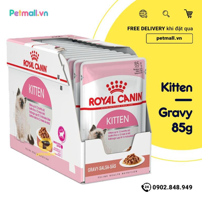 Pate mèo Royal Canin Kitten Gravy 85g - Hộp 12 gói