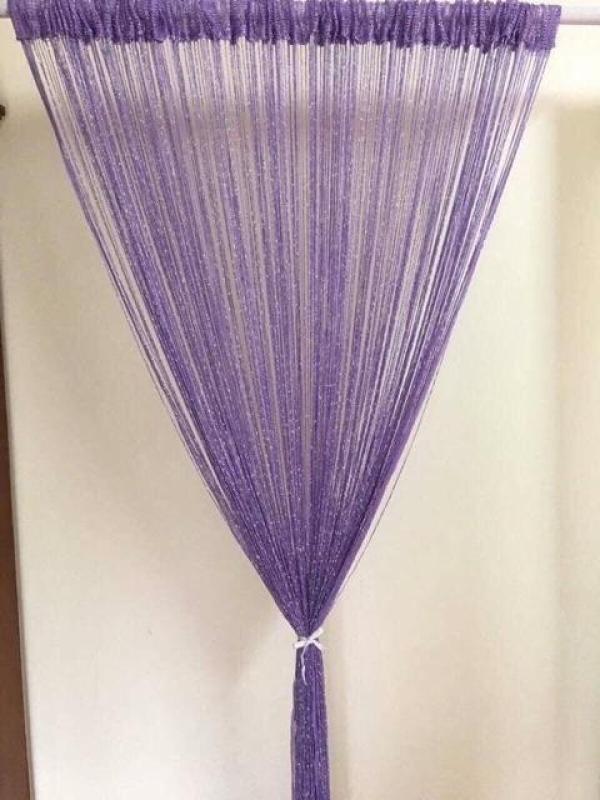 Rèm sợi dù đan kim tuyến trang trí nhà cửa , chuyên dùng cho spa cao cấp kích thước 3mx3m